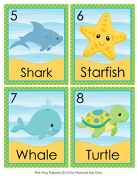 Sea Creatures Write the Room Activity