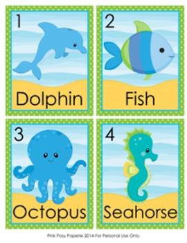 Sea Creatures Write the Room Activity