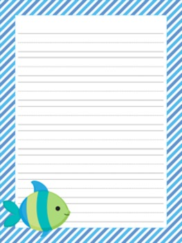Sea Creatures Writing Paper - 3 Styles
