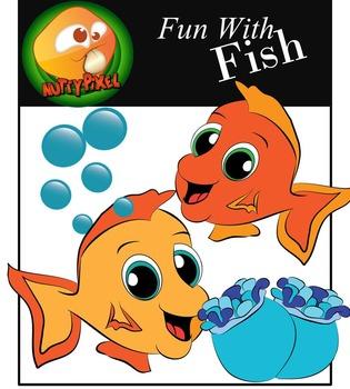 Sea Creatures_Fun With Fish Clip Art