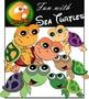 Sea Creatures_Fun With Sea Turtles Clip Art
