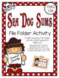 Sea Dog Sums: A File Folder Activity for TEKS 1.3A