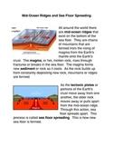 Sea Floor Spreading Common Core Activity
