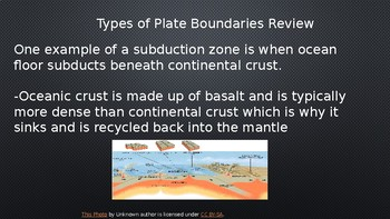 Sea Floor Spreading and Subduction powerpoint
