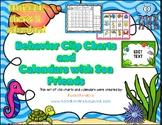 Sea Friends Behavior Clip Charts and Calendars BUNDLE 2020