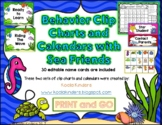 Sea Friends Behavior Clip Charts and Calendars BUNDLE 2018