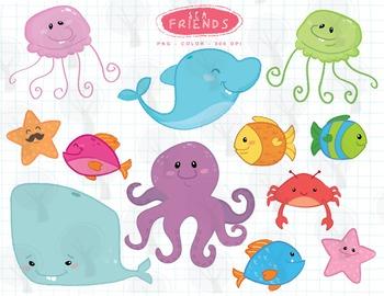 Sea Friends ClipArt