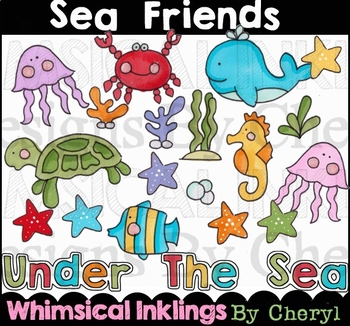Sea Friends Clipart Collection