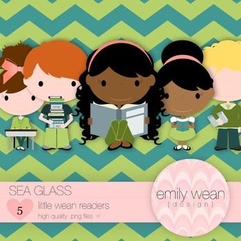 Sea Glass - Little Readers Clip Art