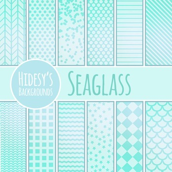 Sea Glass Themed Background / Pattern / Digital Papers Clip Art Commercial Use