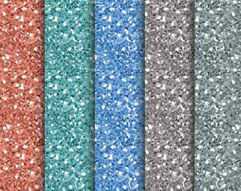 Sea Glitter Papers, Sea, Glitter, Set #238