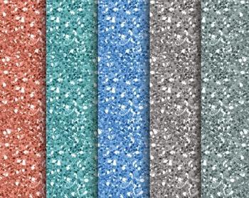 Sea Glitter Papers, Sea, Glitter, Set #238