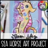 Ocean Art Project, Sea Horse Art Lesson