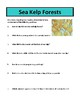 Sea Kelp Forests - Reading Comprehension and Substitute Plan