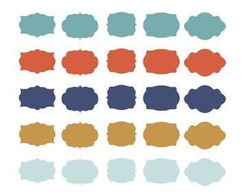 Sea Labels, Digital Clipart, Sea Label Set #154