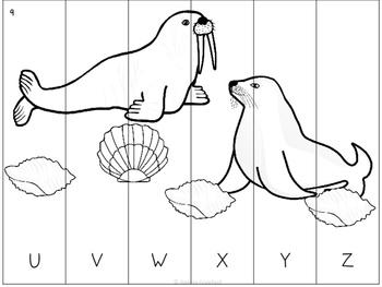 Sea Life ABC Order Puzzles