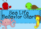 Sea Life Behavior Chart