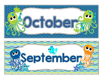 Sea Life COMPLETE Calendar Set