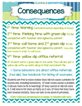 Sea Life Classroom Rules