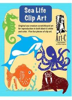 Sea Life Clip Art by ArtC-Cosgrove