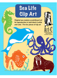 Sea Life Clip Art by ArtC-Cosgrove