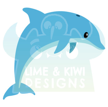 Sea Life Clipart, Instant Download Vector Art, Commercial Use Clip Art, Cute
