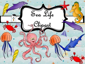 SeaLife Clipart -Personal and Commercial Use