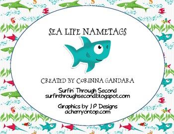 Sea Life Desk Tags