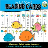 Dolch Sight Word Reading Strips (Sea Life Themed)