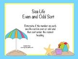Sea Life Even and Odd Sort