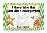 Sea Life I Have Who Has Kindergarten Games
