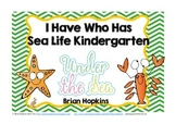 Sea Life I Have Who Has Kindergarten Games