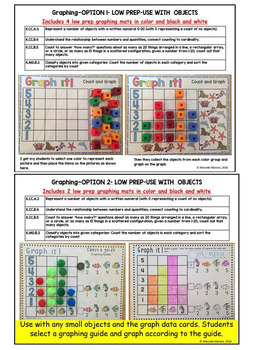 Math Centers and Printables- Count & Pin and Graphing Activities (sea life)