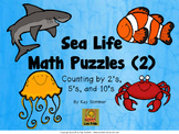 Sea Life Math Puzzles 2:  Skip Counting by 2's, 5's, and 10's
