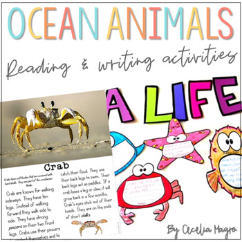 Sea Life:  Ocean Animals Writing and Reading