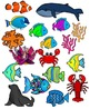Sea Life, Sea Animals, Ocean Animals Clipart Graphics-171 images-Commercial Use