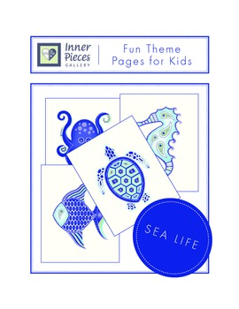 Sea Life Theme Fun Pages Ink Saver