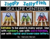 Jellyfish literacy center activities and centers for kindergarten