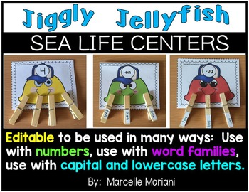 Sea Life- Under the Sea- Jelly fish activities and centers