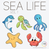 Sea Life Vol 1 Clipart by Isma Clips