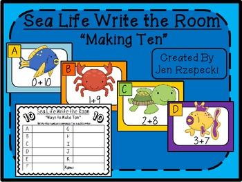 Sea Life Write the Room-Making Ten
