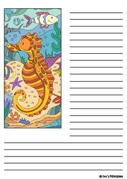 Sea Life Writing Templates PDF