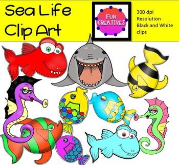 Sea Life and Fish Clip Art