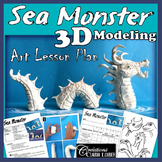 Sea Monster - 3D Modeling  Art Lesson Plan
