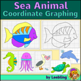 Sea / Ocean Animal Activity - Coordinate Graphing Mystery Pictures Ordered Pairs