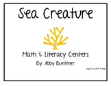 Sea & Ocean Creatures Math and Literacy Centers