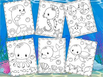 Sea Ocean Friends- The Crayon Crowd Coloring Pages, Animals
