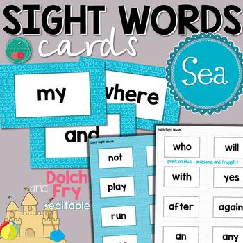 Sea Ocean Sight Words