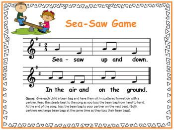 Sea-Saw {Kodaly Folk Song to teach ta, ti-ti, so-mi}