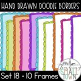 Hand Drawn Bright Doodle Border Frames // For Commercial U